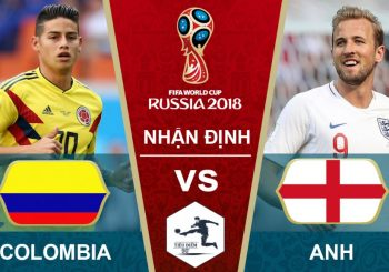 Link Sopcast World Cup 2018: Colombia vs Anh 01h 04/07